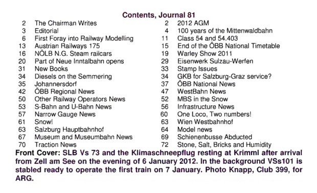 Journal 81 Contents